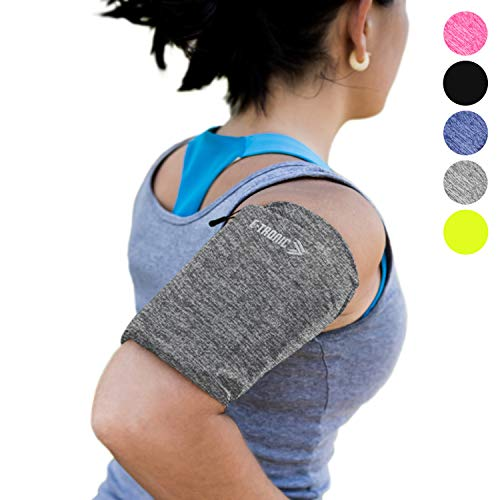 Phone Armband Sleeve: Running Jogging and Workout Cellphone Holder: Fitness Gear & Accessories for Women & Men iPhone 8 8plus X XR XS MAX 7 Plus 5s 6s iPod Galaxy S3 S5 S6 S7 S8 Note Edge Gray (XL)
