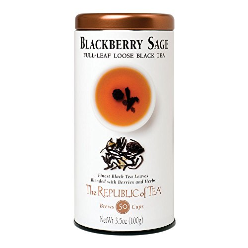 The Republic Of Tea Blackberry Sage Black Full Leaf Tea, (Blackberry Leaf Tea)
