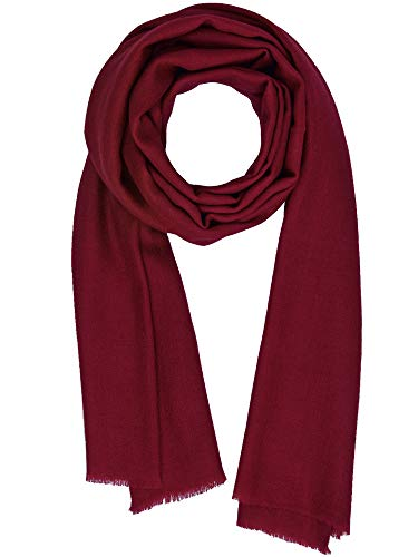(Cashmere Feel Wool Silk Blend Scarf Unisex Pashmina Men's Women's Shawl Biking Red)