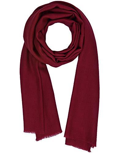 (Cashmere Feel Wool Silk Blend Scarf Pashmina Women's Men's Shawl Biking Red)
