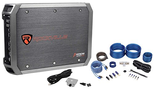 Amp Class Mono (New Rockville RXD-M1 2000 Watt/1000w RMS Mono 1-Ohm Car Amplifier+Amp Wire Kit)