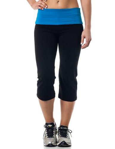Alki'i Yoga Capri with Foldover waistband