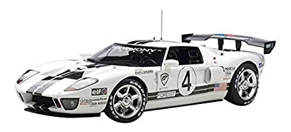 Cast Model Ford Gt Lm Race Car Spec  In White By Autoart