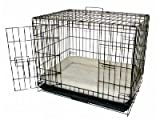 Brand New Folding Dog Cat Kennel Crate Cage 24x17x20 w/Fleece Pad