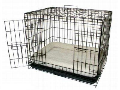 Sheepskin Kennel Pad - Brand New Folding Dog Cat Kennel Crate Cage 24x17x20 w/Fleece Pad