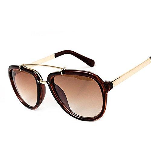 de de Borde mujer lente Blue protección Gafas marrón gris lente Elegante con sol marrón gafas edge DESESHENME estrellas UV 4zntBWA5