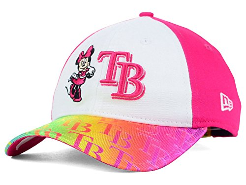 quality design d84c6 228af Tampa Bay Rays New Era MLB Girl s Youth Minnie Mouse Dazzler 9TWENTY  Adjustable Pink Hat Cap (Youth)