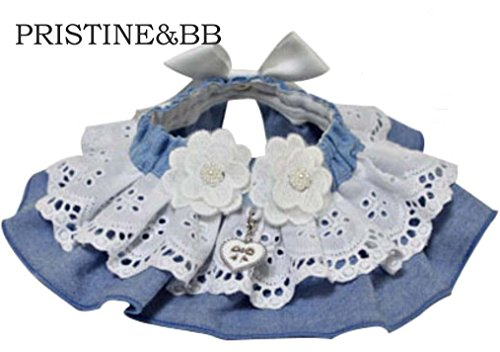 Handmade Blue Jean Lace name cape 131 (L) by PRISTINE&BB