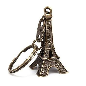 Amazon.com: Llavero retro personalizado de la torre Eiffel ...