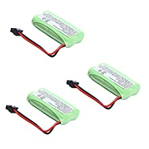 3x Masione 2.4V 800mAh Ni-MH Cordless Phone Battery for Uniden BT-1021 BT-1025 BT-1008S BT-1008