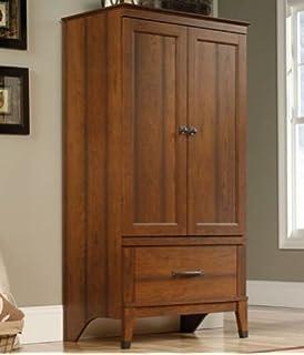 Elegant Wardrobe Armoire Storage Closet Cabinet Bedroom Furniture Wood Clothes  Organizer