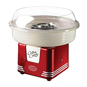 Red Cotton Candy Maker, Hard & Sugar Free Candy, Dimensions 8.34Hx11.65Wx11.65L