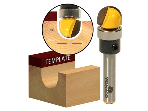 Yonico 14956q 1/4-Inch Radius Core Box Template Router Bit 1/4-Inch Shank