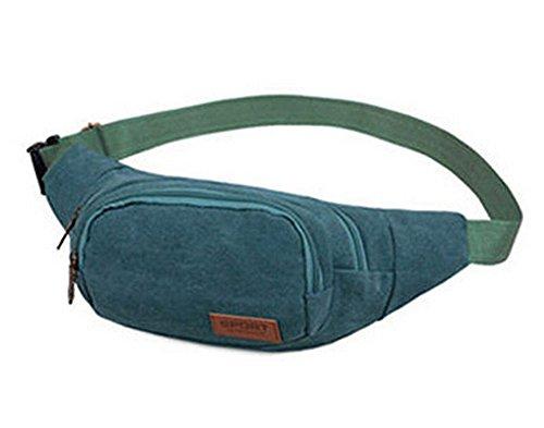 Durable Canvas Sporttasche Outdoor-Rucksack Taschen Kleine Knapsack,blau