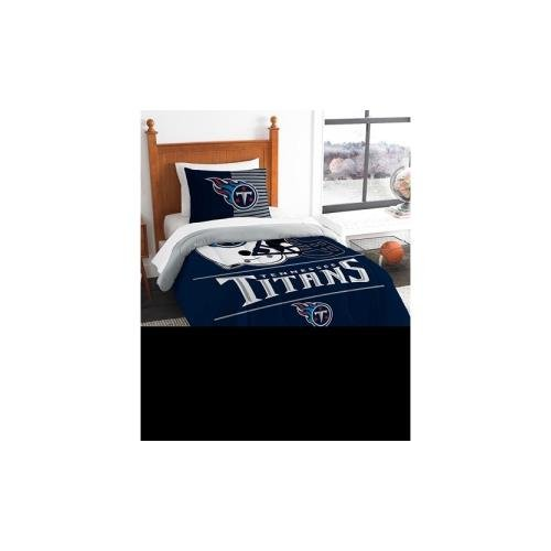 (The Northwest Company NFL Tennessee Titans Twin Comforter and Sham, One Size, Multicolor)