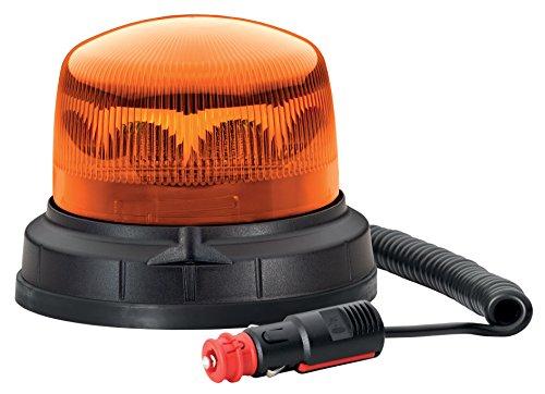 HELLA 012480101 KLX 1 Magnetic Mount LED Beacon Warning Light, 1 Flashing Pattern, Waterproof, 9-30VDC, Amber