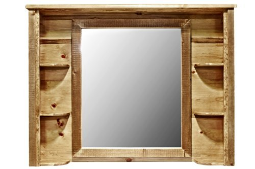 Montana Woodworks Homestead Collection Deluxe Dresser Mirror, Stain and Lacquer Finish by Montana Woodworks