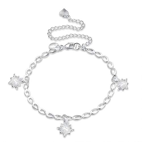 ASHIJIN Fashion Design Silver Color Goddess Anklet Charms 20Cm + 10Cm Simple Style Anklet Bracelet Jewelry ()