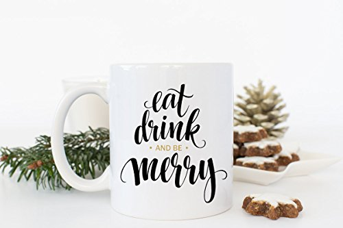 Starbucks Coffee Cup Costumes (Eat Drink Be Merry, Christmas Mug, Holiday Coffee Cup , Hot Chocolate Cup, Merry Christmas Mug , Cute Gift Idea, 11oz, 15oz, gift)