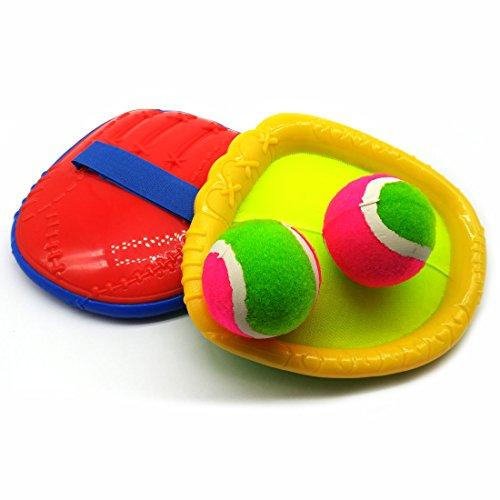 GARASANI Baseball Glove Style Paddle Catch Ball Set Toss and Catch Sports Game Set for Kids with 2 Baseball Glove Style Paddles and 2 Ball