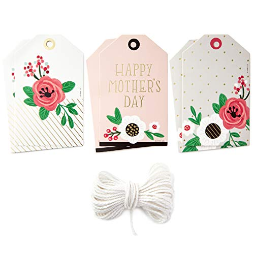 - Hallmark Gift Tags Set (6 Tags with String for Mother's Day, Birthdays, Weddings, Showers, and More)