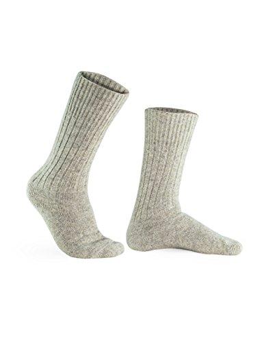 100% Pure Wool Socks - Men, Natural (Mens Pure Wool)
