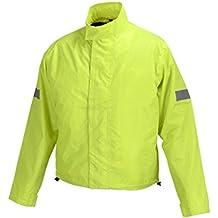 Motorcycle Biker Road Rain Jacket Neon Green RJ1-1 (L)