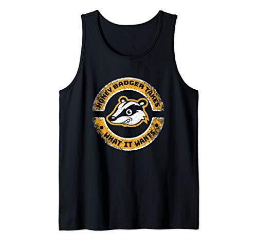 Honey Badger Takes What It Wants Funny Graphic Tee Tank Top (Tank Badger Top Honey)