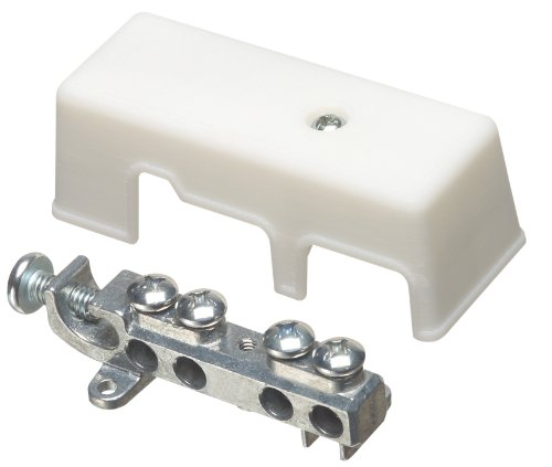 Arlington GB5-1 White Intersystem Zinc Grounding Bridge with Plastic Cover, 4-1/2-Inch