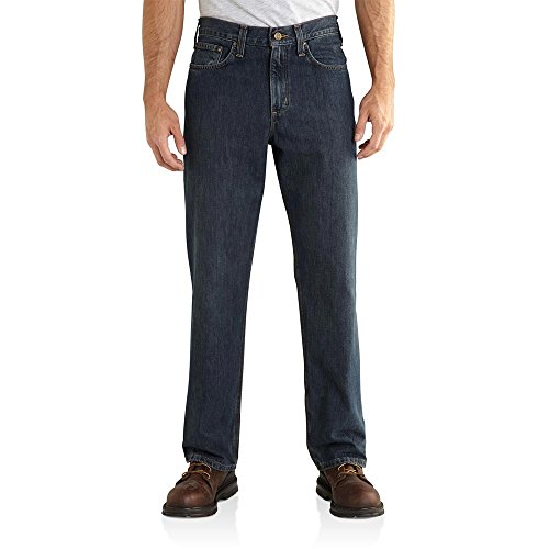 Carhartt Men's Relaxed Fit Holter Jean, Bed Rock, 54W x 30L