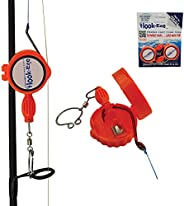 HOOK-EZE Large Fishing Knot Tying Tool All in One | Line Cutter | Cover Hooks on Fishing Poles and Travel Safe