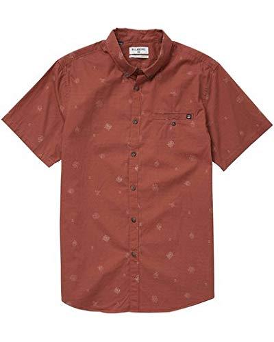 Billabong Men's Sunday Mini Short Sleeve Shirt, Rum, S