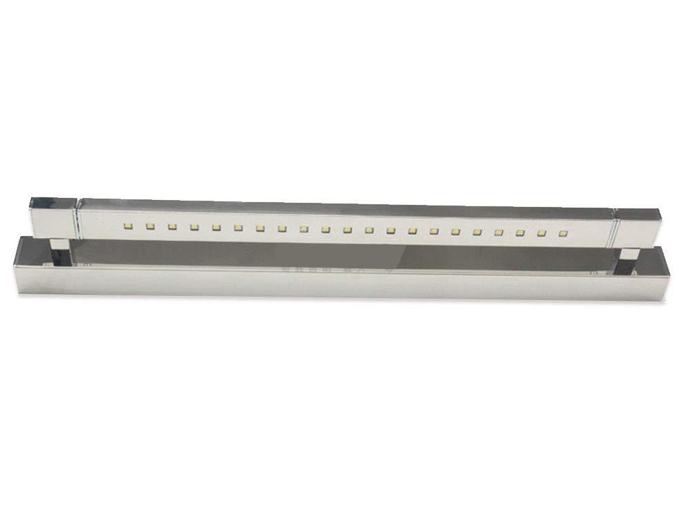 Edelstahl-LED-Spiegelscheinwerfer können Badezimmerspiegelschrankbeleuchtung Badezimmerspiegellicht, weißes Licht, 47cm gedreht werden