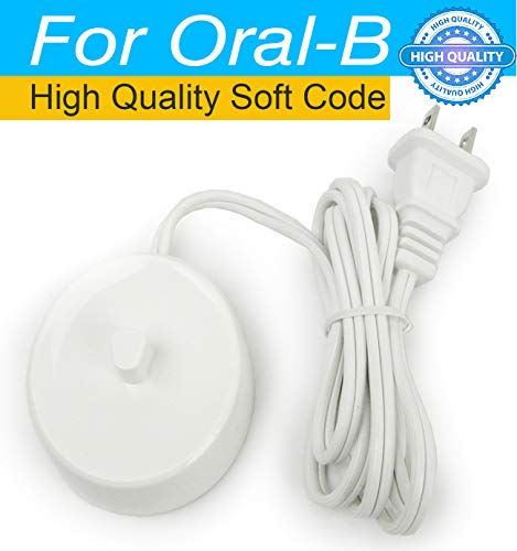 Replacement Braun Oral B Electric Toothbrush Charger Power Cord Supply Inductive Charging Base Model 3757 Portable 110-220V Travel Charger ()