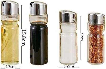 EBAYIN 5/pezzi Ampolliera vetro sale e pepe olio e aceto Dispencer rack stand