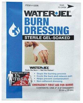 Water-Jel Technologies 2' X 6' Foil Pack Sterile Gel-Soaked Burn Dressing - 1 EA