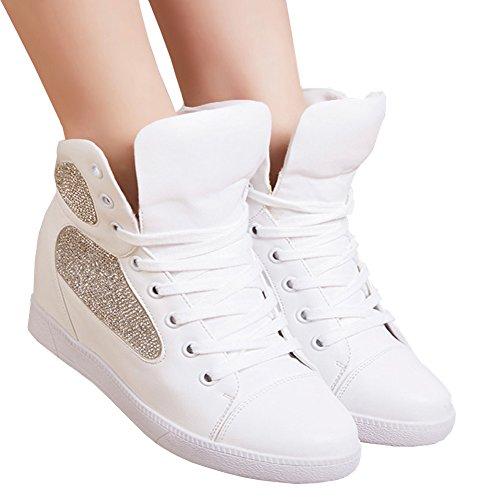 Scarpe Sportive Da Donna Di Alta Moda Sneaker Casual Bianche