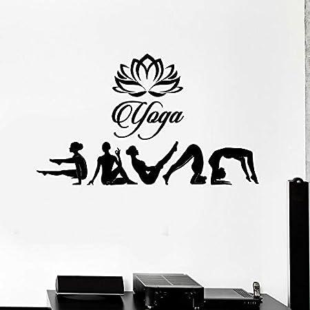 Ajcwhml Gimnasia Chica Vinilo Tatuajes de Pared Yoga Studio ...