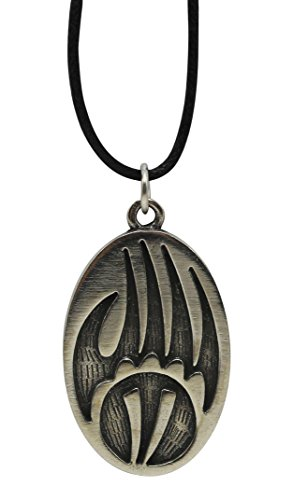 Pewter Native American Inspired Pendant With 33 Cord Necklace on Legend Card (Bear Paw) (Native American Inspired Necklace)