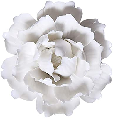Wall Decoration for Living Room Bedroom Wall Hanging 3D Wall Art Ceramic Flower
