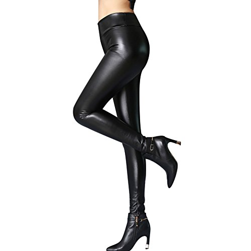 Shiny Slim Leggings (Black) - 1