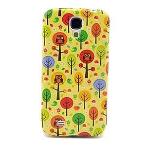 DUR Cartoon Trees & Owls Glossy TPU IMD Case for Samsung Galaxy S4 I9500