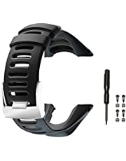 Picowe Watch Band Strap Soft Rubber Watch Band, Adjustable Watch Watch Accessories for Suunto Ambit 1/2/2S/2R/3 Sport/3 Run/3 Peak, Screwdriver Included