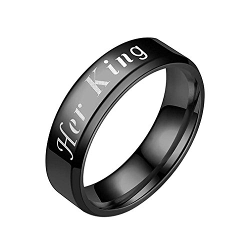 Meolin Her King His Queen Couples Ring Anniversary Engagement Promise Ring,alloy,9 (His And Hers Household)