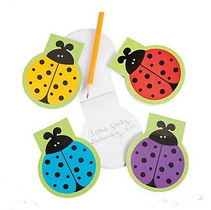 24 Lady Bug Mini Die Cut Note Pads