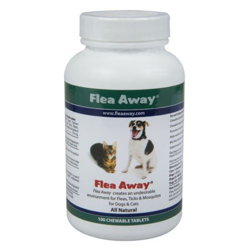 Flea Away Flea & Tick Remedies Natural Flea, Tick, and Mosquito Repellent with 100 Tablets