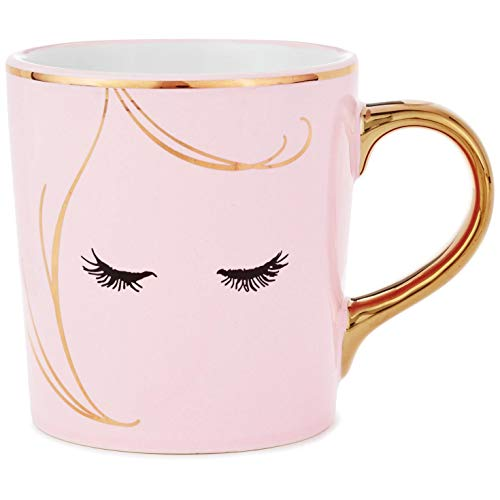 Eyelashes Pink Ceramic Mug Mugs & Teacups ()