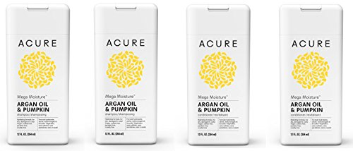 Acure Organics Mega Moisture Shampoo and Conditioner Bundle With Acai, Blackberry, Rosehips, Pomegranate and Aloe Vera, 8 oz. each (Pack of 2, 4 Bottles) ()