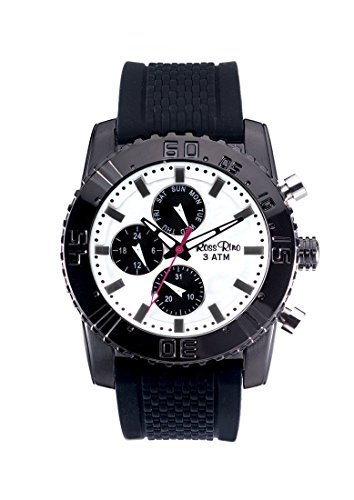 Ross Rino Draco Unisex Quartz Watch with Black Dial Analogue Display and Black Silicone Bracelet