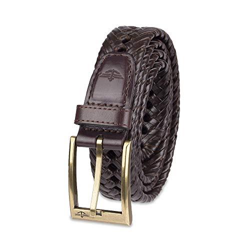 Dockers Men's Braided Belt, brown, 32